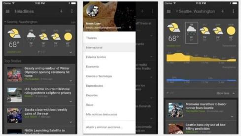 Google lanza Google News para iOS