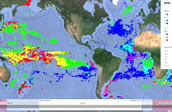 Global Fishing Watch, una web para seguir online la actividad pesquera mundial 2