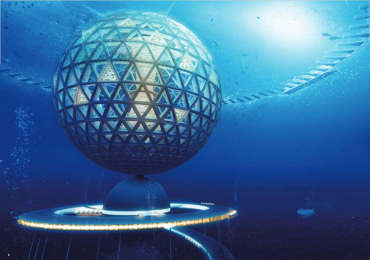 Ocean Spiral proyecto japones ciudad submarina