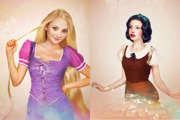 Version realista personajes femeninos Disney
