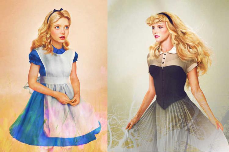 Version realista personajes femeninos Disney3