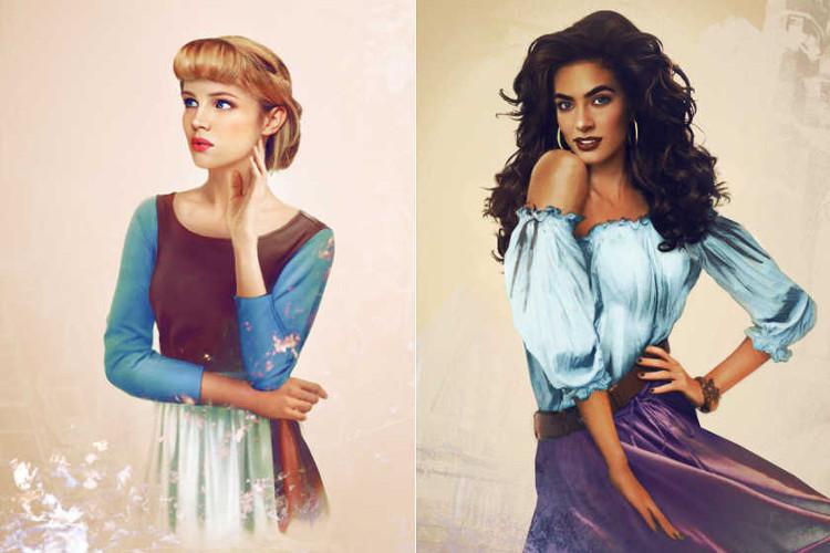 Version realista personajes femeninos Disney4