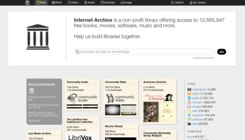 Internet Archive, el gigantesco almacén de la red, renueva su diseño 2