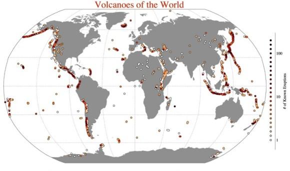 volcanes del mundo