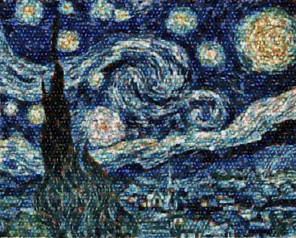 Pinto Van Gogh galaxia Noche estrellada 3