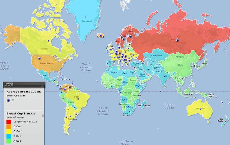 Atractivo sexual mundial mapas 5