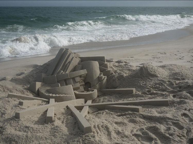 Los fantásticos castillos de arena de Calvin Seibert