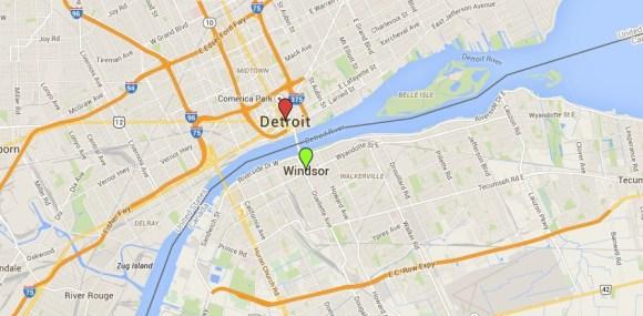Detroit (USA) - Windsor (Canadá)