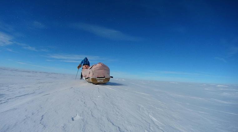 Sigue la carrera por alcanzar el Polo Sur en solitario en el menor tiempo posible