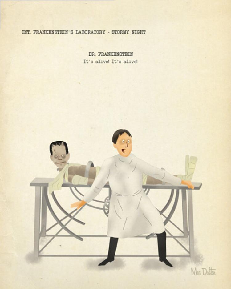Grandes escenas parejas cine vistas artista Max Dalton 3
