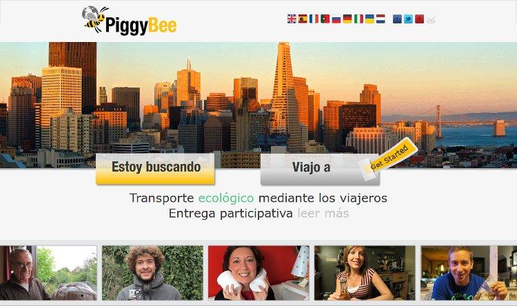 PiggyBee, una web que usa a los viajeros como transportistas