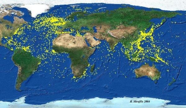 El Graf Spee y el mapa interactivo de barcos hundidos