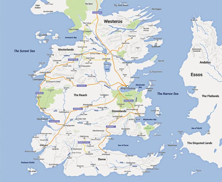 Google Maps Juego Tronos