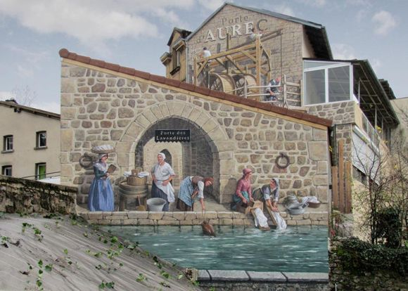 Patrick Commecy artista da vida fachadas francesas 5