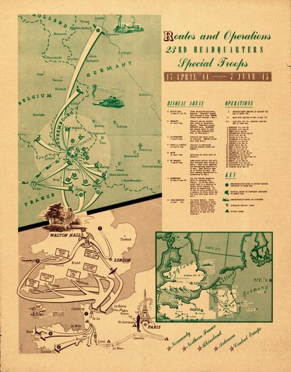 Mapa de operaciones del 23rd Headquarters Special Troops
