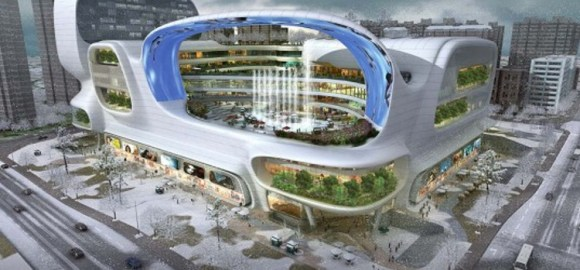 Espectacular centro comercial chino Dongfeng