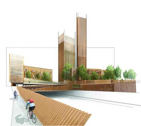 Paris tendra mayor edificio madera mundo