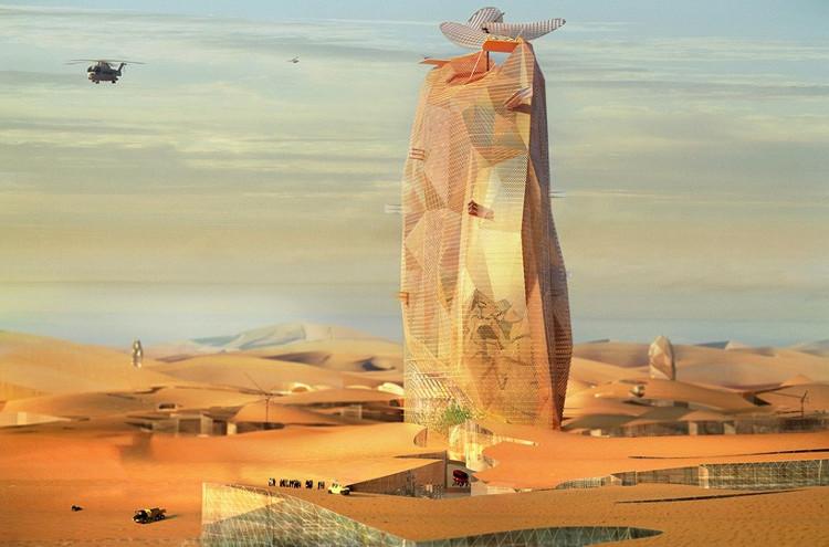 Una ciudad vertical autosuficiente en el desierto del Sahara