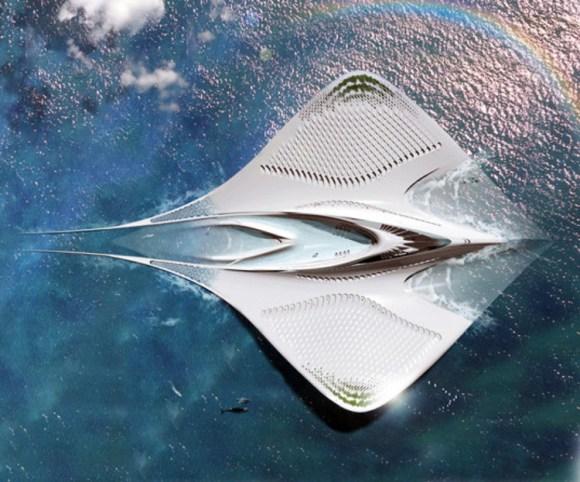 Ciudad acuatica forma manta raya 2