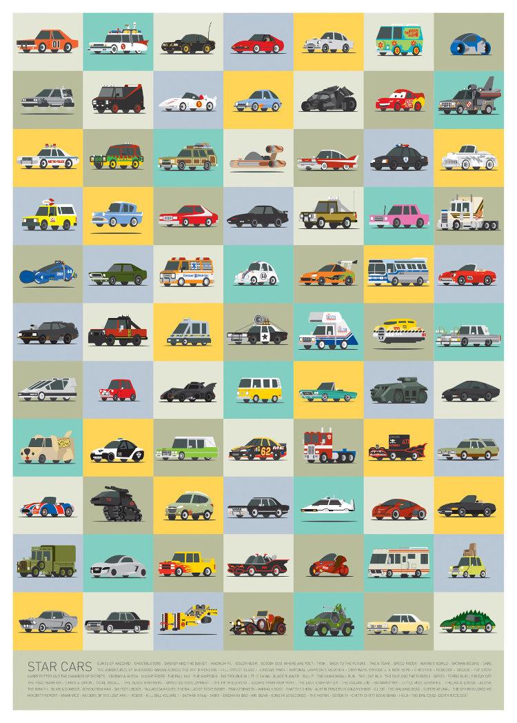 Estrambóticos vehículos Mad Max vistos ilustrador Scott Park