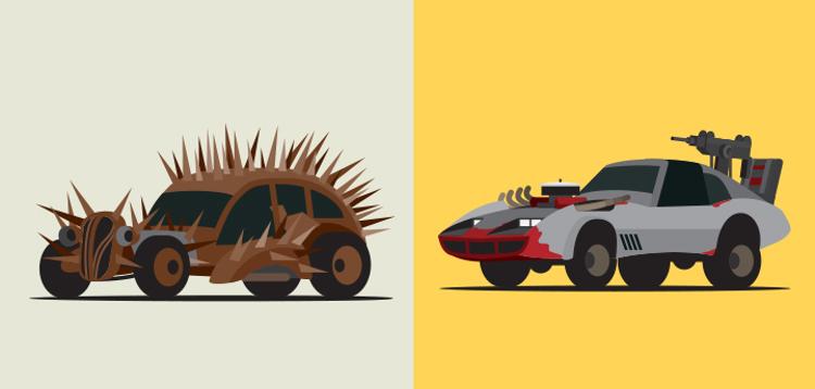 Los estrambóticos vehículos de Mad Max vistos por el ilustrador Scott Park