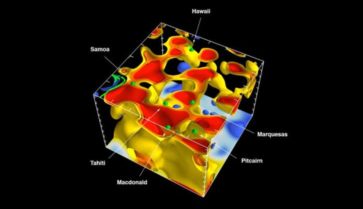 Mapa 3d interior Tierra estudiar formacion volcanes 2