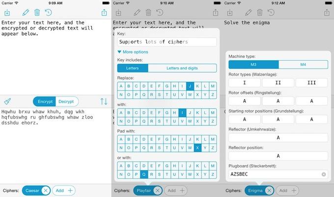 Ciphers: una máquina Enigma en tu iPhone