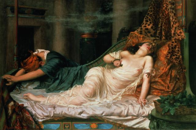 ¿Murió Cleopatra por la picadura de una serpiente?