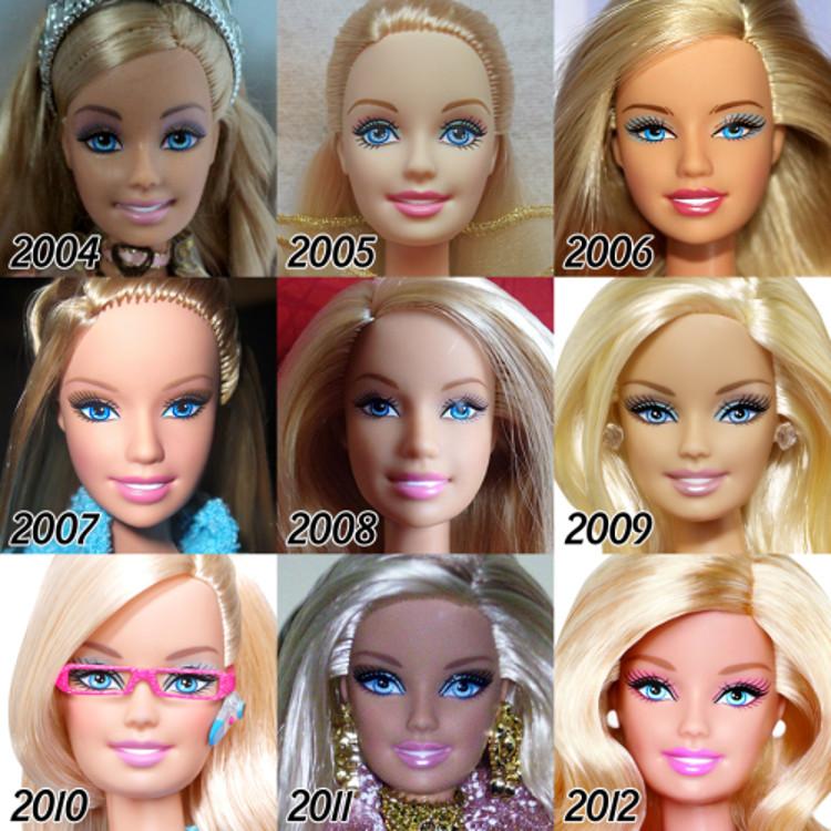 Evolucion Barbie 1
