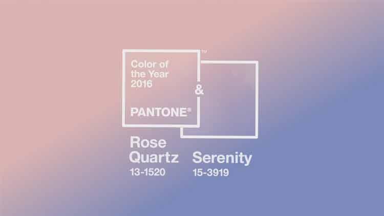Pantone elige Color de 2016 al Rose Quartz y Serenity