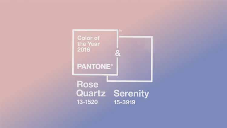 Pantone elige Color de 2016 al Rose Quartz y Serenity