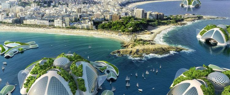 ciudades flotantes autosuficientes hechas basura sacada mar