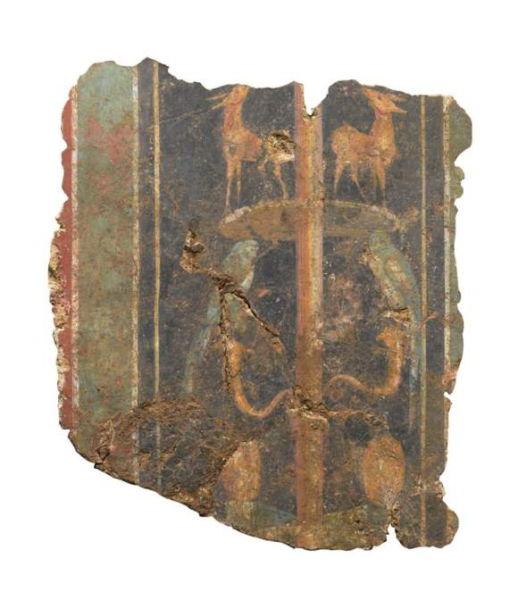1) WEB A section of a decorative fresco, dating to the 1st-century AD Roman Britain (c)MOLA