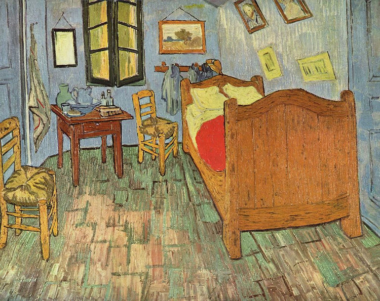 Recrean Dormitorio Arles Van gogh alojamiento 1