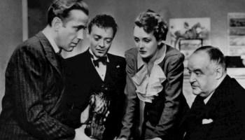 "Escena de la película de John Huston ""El Halcón Maltés"""