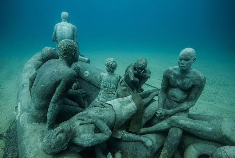 Lanzarote inaugura primer museo artistico submarino Europa