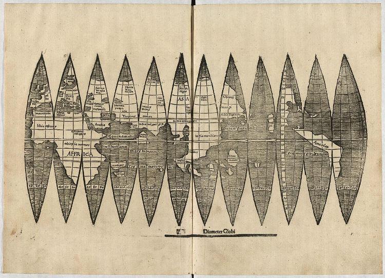 Universalis Cosmographia primer mapa nombra America