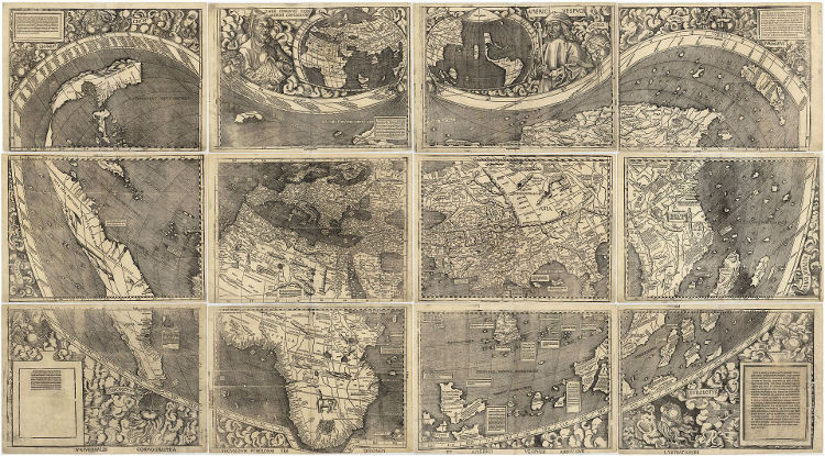 Universalis Cosmographia primer mapa nombro America