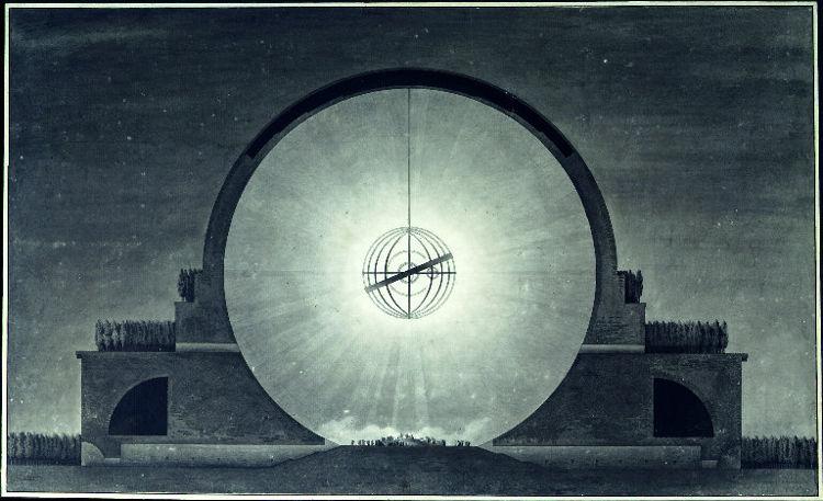 Inaudito Cenotafio Newton ideado Boullee 1