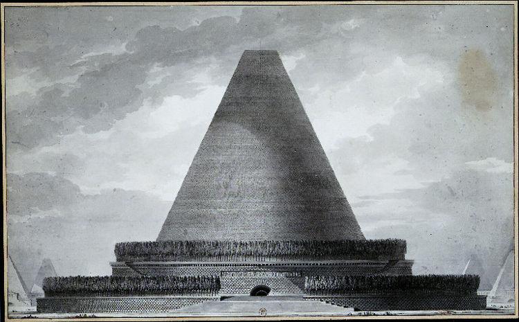 Inaudito Cenotafio Newton ideado Boullee 2