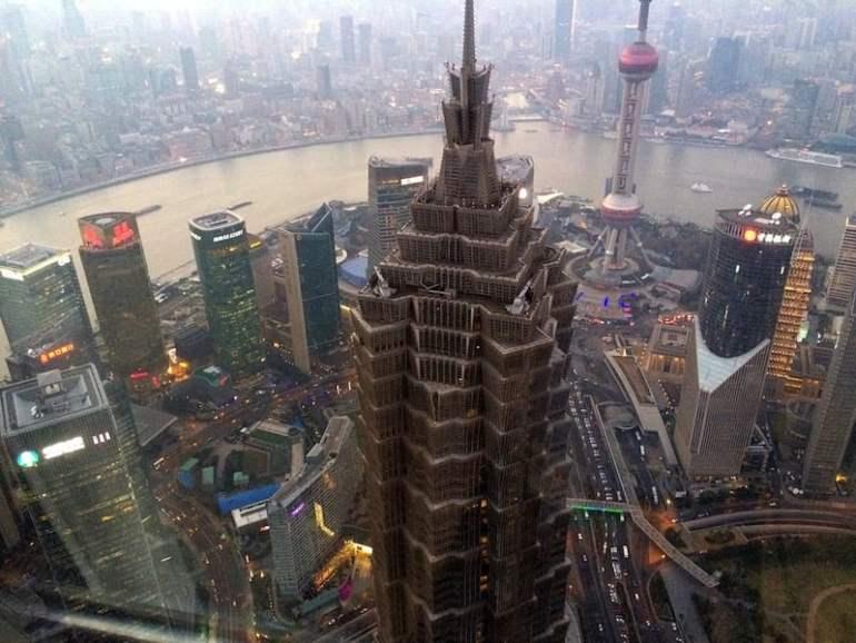 Vista desde el mirador del Shanghai World Financial Center
