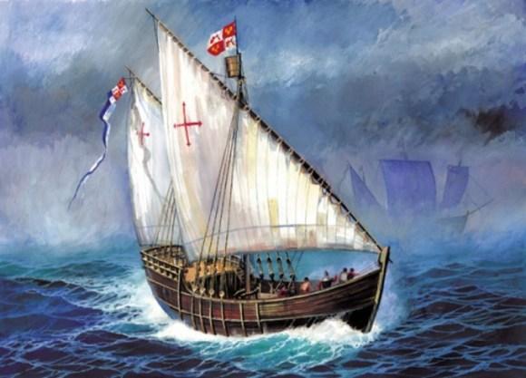 Carabela Santa Cruz primer barco construido America 3