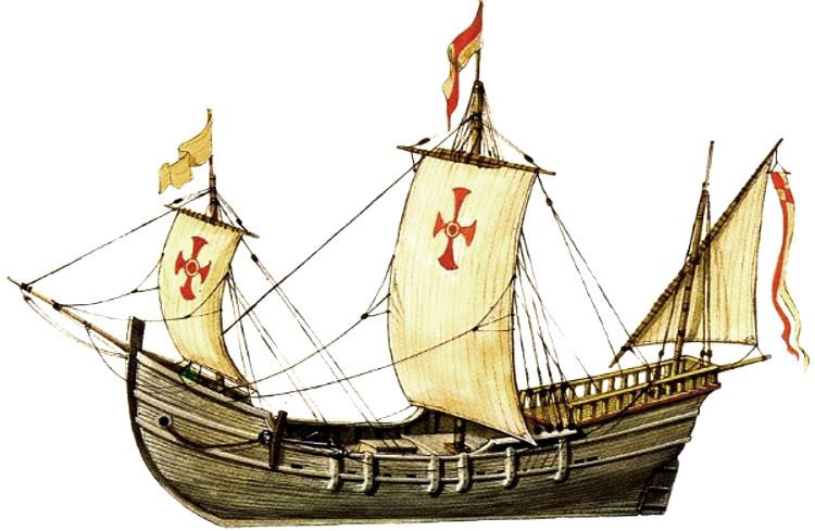Carabela Santa Cruz primer barco construido America1
