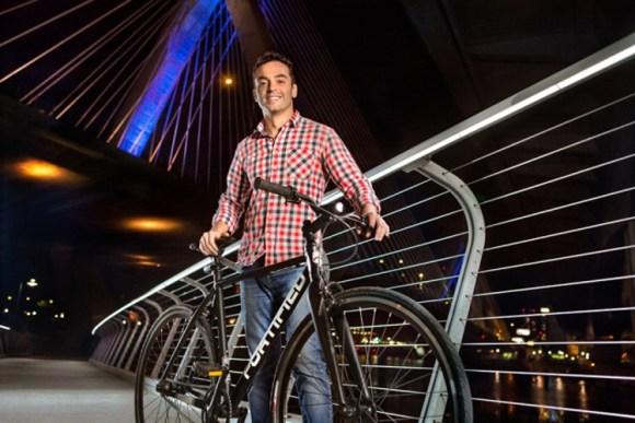 Invincible bicicleta prueba robos resistente intemperie