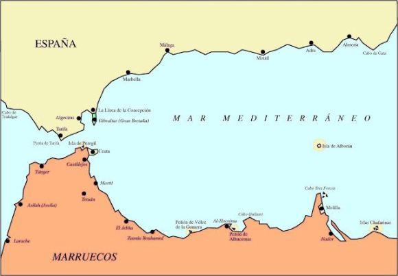 Situación geográfica de la Isla de Alborán