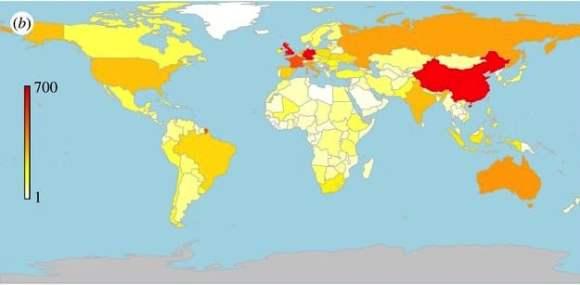 Especies de ganado domesticadas por país