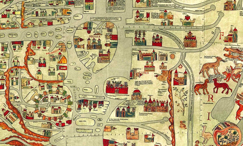 Los mapamundis Hereford Ebstorf atlas visuales del Medievo