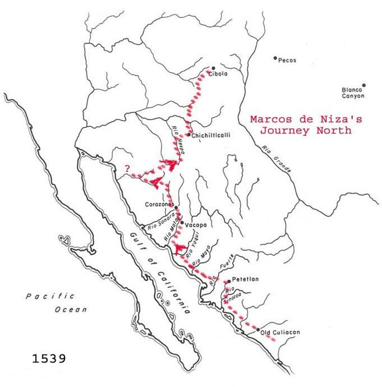 La ruta de Marcos de Niza
