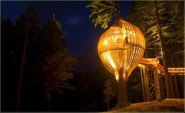 The Redwoods Treehouse, un restaurante en lo alto de un árbol