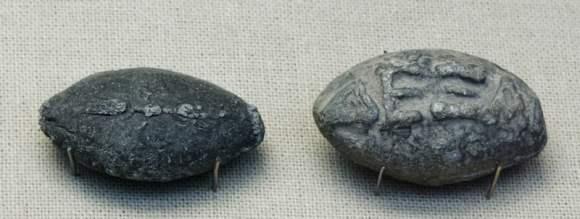 Balas de plomo griegas con inscripciones